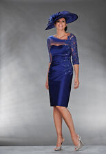 ROYAL BLUE Knee-Length Suits&Outfits dress Mother Of Bride gown 6 8 10 12 14 16