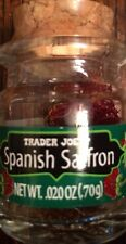 Trader Joe's Spanish Saffron .02 ounces Product of Spain 1, 2 or 3 jar Free Ship