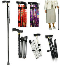 Various Colour Adjustable Folding Light Weight Aluminium Walking Stick Cane