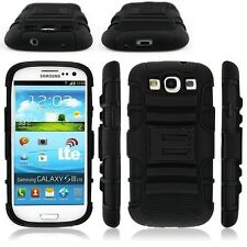 Heavy Duty Defender Belt Clip Case Cover Holster Samsung Galaxy S III S3 I9300