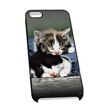 Cover for iPhone 4/5 Case #308 Sleeping Kittens Cute Gift Idea Cat Lover Mum Nan