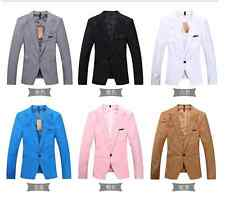 New ! Stylish Men's Casual Slim fit One Button Suit Blazer Coat Jackets
