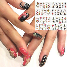 New 4 In 1 Nail Stickers Water Transfer Decals Manicure Watermark Stickers