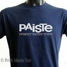 """PAISTE T-SHIRT """"cymbals sounds gongs"""" music drums tee - ALL SIZES - 5 COLORS"""