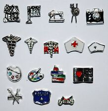 Cute New Floating Charms Professions Memory Lockets Living Story Police Fire