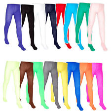 Girls Dance Fancy Dress Tights 16 Colours One Size Ballet Sport