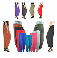 LADIES WOMENS FULL LENGTH ALI BABA HAREM PANTS TROUSERS BAGGY LEGGINGS