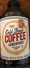 Trader Joe Cold Brew Coffee Concentrate 32 oz. 100% Arabica Bean Low Acid 2 or 4