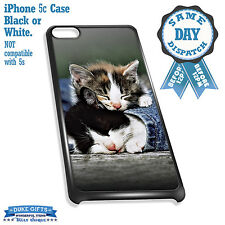 Cover for iPhone 5c Case #308 Sleeping Kittens Cute Gift Idea Cat Lover Mum Nan