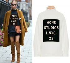 Celebrity ACNE Print Oversize Loose Top Blouse Jumper Hoodies Sweats