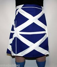 Scotland Flag  Kilt - all sizes -Fancy Dress - Made in Britain to order