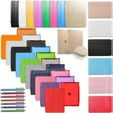 Slim Magnetic Leather Smart Cover with Hard Back Case Sleep/Wake For Apple iPad