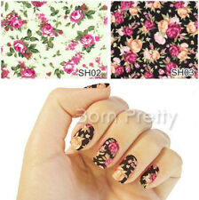 Nail Art Water Decals Transfer Stickers Enchanting Floral Pattern Sticker