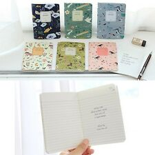 INDIGO Vintage Vellum Paper Mini Handy Line Notebook Paper Memo Journal Diary