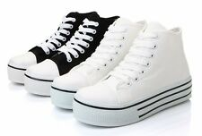 Fashion Women's Thick Canvas High Top Platform Sneakers Casual Shoes
