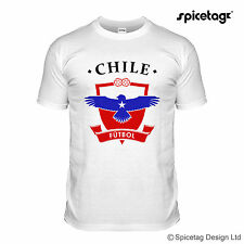 Chile World Football T-shirt White Brazil Rio Chilean Soccer Team Tshirt Tee T