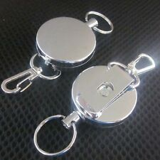 HVY DUTY Retractable Reel Key Card Badge Holder Steel Cord Belt Clip w/ HOOK