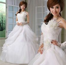 Cheap One-shoulder Sweetheart Ball Gown Wedding Dresses Sleeveless Bridal Gown