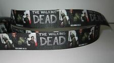 "GROSGRAIN WALKING DEAD 7/8"" RIBBON *YOUR CHOICE OF 1, 3 or 5 YARDS"
