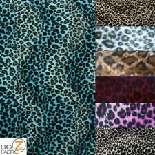 """VELBOA FAUX FAKE FUR CHEETAH ANIMAL SHORT PILE FABRIC - 10 Colors - 60"""" SOLD BTY"""