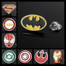 Buy 6 Get 1 Free The AVENGERS SUPERHERO JUSTICE LEAGUE SILVER LAPEL PIN BADGE