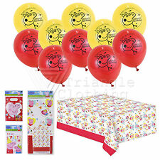 Official Peppa Pig Birthday Party Set Tableware Balloons Invites Goody Bags