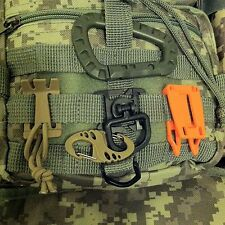 MOLLE PALS Webbing Tactical Clips D-Ring Elastic Tie-down Strap Hydration Tubing