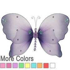 Butterfly Decor nylon hanging wall ceiling baby nursery room decoration girl new