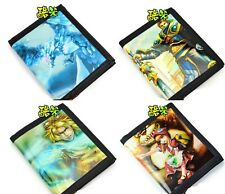 Rare League of Legends LOL Anivia Garen Ezreal Annie Canvas Black Purse Wallet