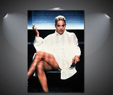 Basic Instinct Sharon Stone Vintage Movie Art Poster - A0, A1, A2, A3, A4 Sizes