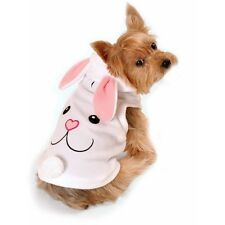Simply Dog White Bunny Character Hoodie Dog Clothes in 4 Sizes