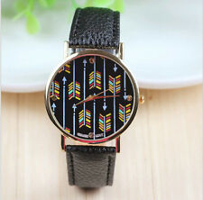 New Leather GENEVA Watches Love of Arrow watches For Women Dress Watch L1