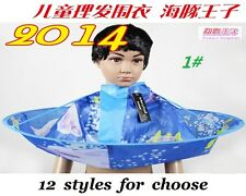 2014 Child Kids Hair Cutting Cape Gown Salon Hairdresser Barber Apron19 Styles