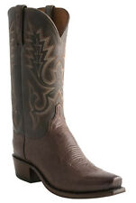 Lucchese N9578.R4 Mens Sienna Brown Smooth Ostrich Boots - *Made in USA*