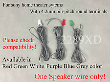 1 OEM Speaker Wire/cable 4 Sony HT/BDV/DAV/HCD/HBD Home theater(4.2mm plug;Read)