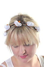 Headband Accessory Festival Rose Boho Hemp Hair Band Wedding Prom Gift Hippy