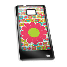 Cover for Galaxy S2 case #321 Colourful Flower tiles Great Gift Idea Girly Kids