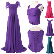 2014 Long Gorgeous Chiffon Formal Evening Dress Prom Ball Gown US size 2 to 16