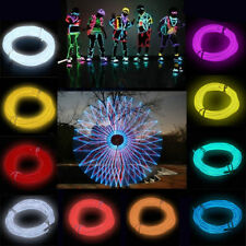 9Color Flexible Neon Light Glow EL Wire Rope Cable Strip LED with Battery 4 size
