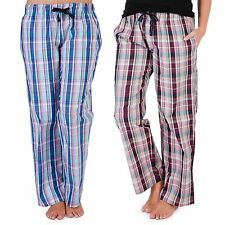 Ladies Pyjama Bottoms Trousers Pyjamas Checked Cotton Designer Lounge Pants PJs