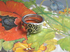 ~APRIL-SUNFLOWERS By Rogers 1950~Custom SPOON RING~Free Ship~PICK YOUR SIZE~