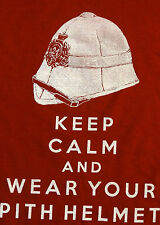 Keep Calm and Wear Your Pith Helmet   British  Redcoat martini henry steampunk