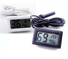 Digital LCD Thermometer Hygrometer Humidity Temperature Probe Indoor Outdoor