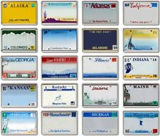 FRIDGE MAGNET - *CUSTOM* License Plates - YOUR TEXT !!  American A-M