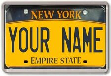FRIDGE MAGNET - *CUSTOM* License Plates - YOUR TEXT !! American M-W