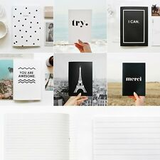 DEAR MAISON Double Sided BnW Line Note Diary Scheduler Planner Journal - 2 EA