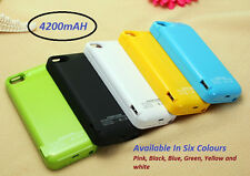 4200MAH EXTERNAL BATTERY BACKUP CHARGER CASE FOR I PHONE 5, 5S & 5C
