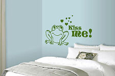 Kiss Me Says The Frog Wall Art Sticker Fairytale Decal Romantic Mural WA303