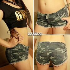 Sexy Woman Lady Low Waist Camo Camouflage Shorts Army Military Hot Pants Jeans
