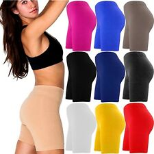LADIES CYCLING COTTON LYCRA STRETCHY SHORT WOMENS ACTIVE CASUAL SPORTS LEGGINGS